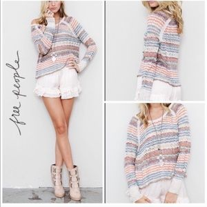 Free People Lost In The Forest Sweater Stripe Knit